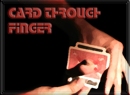 Card Through Finger